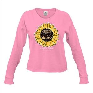 Simply Southern Choose to Shine Sunflower Top Tee